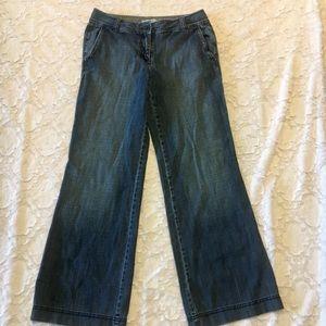 The Loft wide leg jeans
